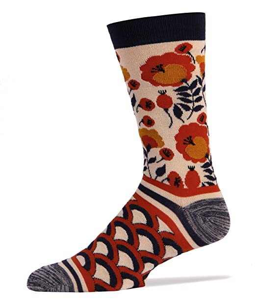 39b78e5f83be9 Image Unavailable. Image not available for. Color: SockItUp Mens Bamboo  Crew Socks - The Wild
