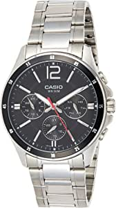 Casio Mens Analogue Quartz Watch with Stainless Steel Strap MTP-1374D-1