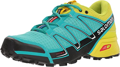Salomon L37905500, Zapatillas de Trail Running para Mujer, Azul (Bubble Blue/Gecko Green/Black), 45 1/3 EU: Amazon.es: Zapatos y complementos