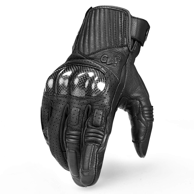 IM19820 INBIKE Guantes Moto 100/% Piel De Cabra para Hombre Guantes Moto Cuero De Pantalla T/ÁCtil