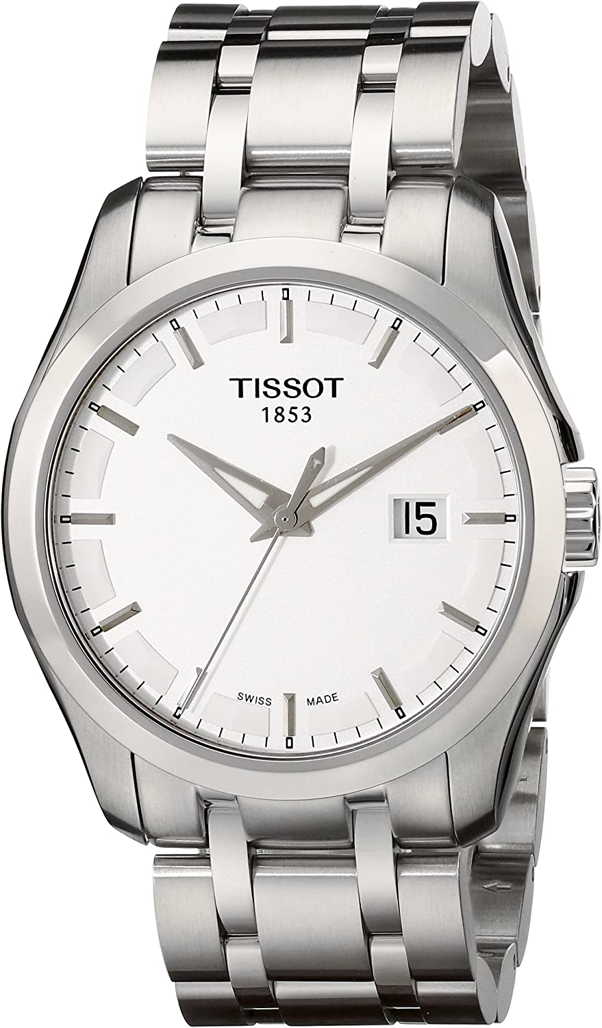 Tissot Men s T0354101103100 Couturier Stainless Steel Bracelet Watch