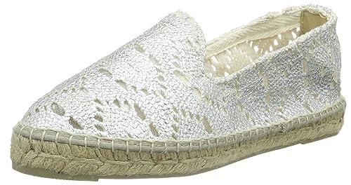 MANEBI V01N015946534 - Alpargata de Lona Mujer, Color Plateado, Talla 38 EU: Amazon.es: Zapatos y complementos