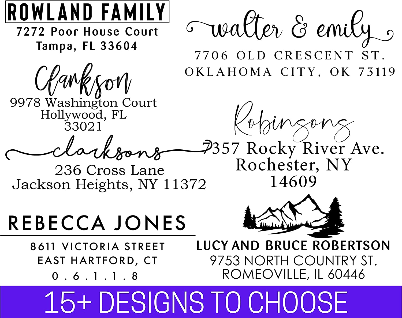 Address Stamp   Custom Address Stamp   10+ Designs to Choose!!   Personalized   Self-Inking Return Address Mail   3 Lines   Wedding Stamp   Custom Address Stamper   (House Warming Gift)