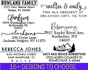 Address Stamp | Custom Address Stamp | 10+ Designs to Choose!! | Personalized | Self-Inking Return Address Mail | 3 Lines | Wedding Stamp | Custom Address Stamper | (House Warming Gift)