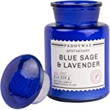 Paddywax Blue Apothecary Collection Scented Soy Wax Jar Candle, 8-Ounce, Blue Sage & Lavender