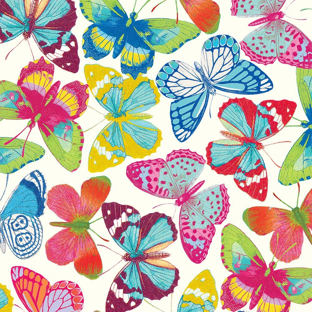 caspari butterflies ivory gift wrapping paper amazon co uk kitchen