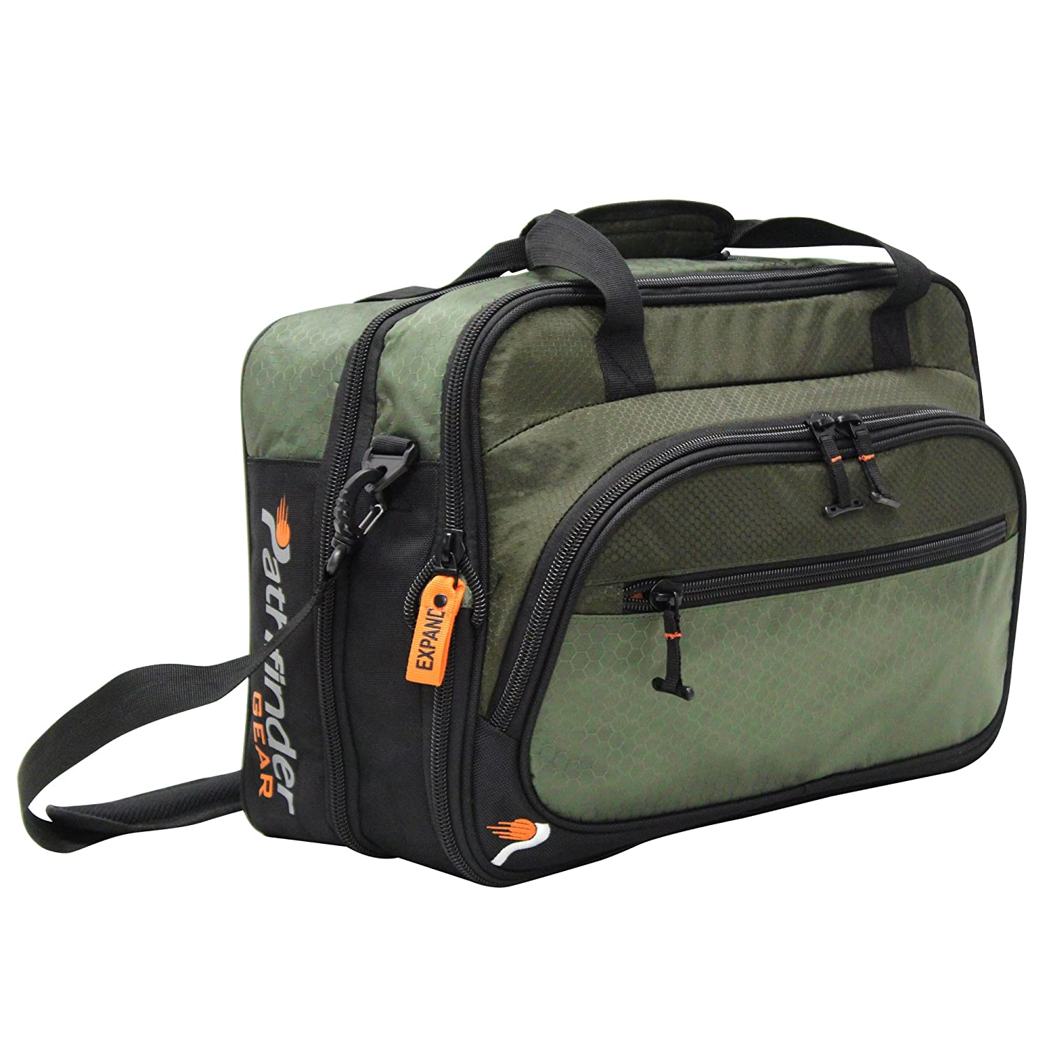 Pathfinder Luggage Gear Gear Convertible 19 Suitcase Carry-On Bag 19in, Olive