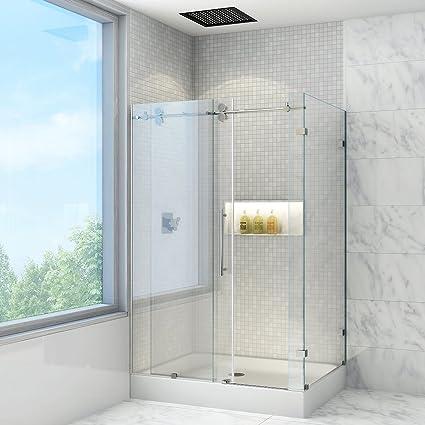 Vigo Winslow 36 X 48 In Frameless Sliding Shower Enclosure With