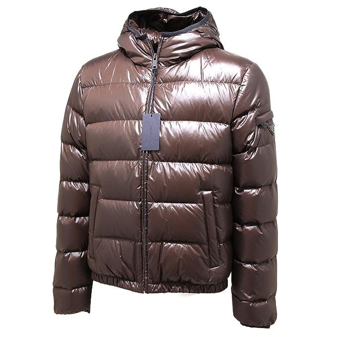 timeless design ed1a6 29946 4859L piumino uomo marrone PRADA piuma giacca padded jackets ...