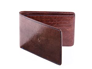 Slim Leather Wallet for Men by Danny P. (Dark Brown)
