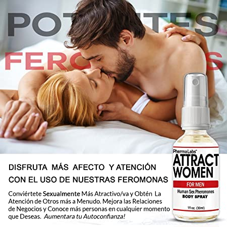 Amazon.com : PhermaLabs Feromonas Body Spray Para Hombre- 1.0 oz- Atraer Mujeres instantáneamente- Mayor Concentración De Feromonas Posible- Aumenta El ...