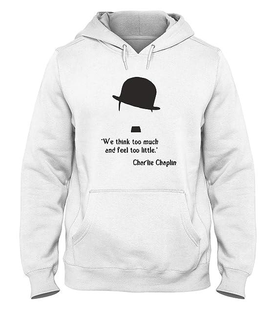 Sudadera a Capucha Blanco cit0052 Charlie Chaplin: Amazon.es: Ropa y accesorios