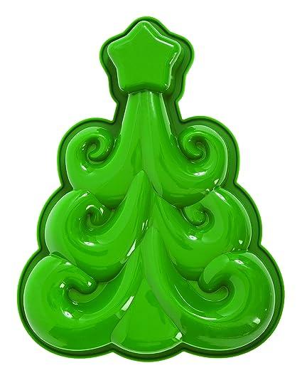 Pavoni FRT166 Platinum Silicone Christmas Tree Deco Tree Cake Mould, Green - Amazon.com: Pavoni FRT166 Platinum Silicone Christmas Tree Deco Tree