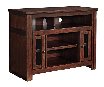 Ashley Furniture Signature Design   Harpan TV Stand   42 In   Traditional  Style   Brown