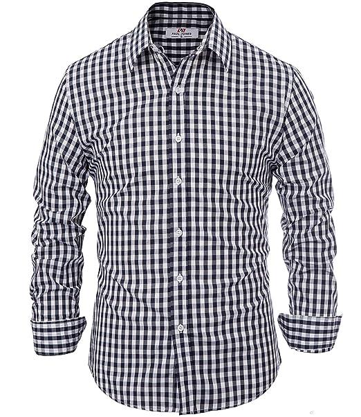 Camicia Uomo Casual Slim Fit Manica Lunga 100/% Cotone Taglia S M L XL XXL