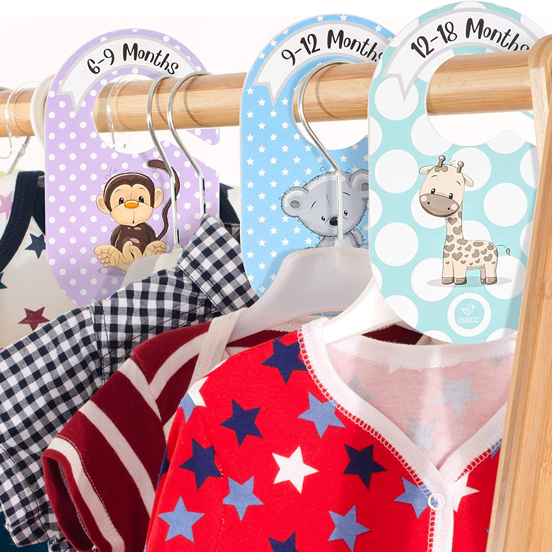Baby Kleidung Organiser| Hochwertige /& Praktisch chuckle 20 Piezas Baby Kleiderschrank Trenner Set Perfekt zum Organisieren /& Ordnen von Kleidung nach Alter Gr/ö/ße /& Typ.