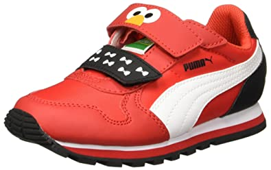 Puma Boy s St Runner Elmo Hoc V Ps High Risk Red and Puma White Sneakers - 0f7c517aa