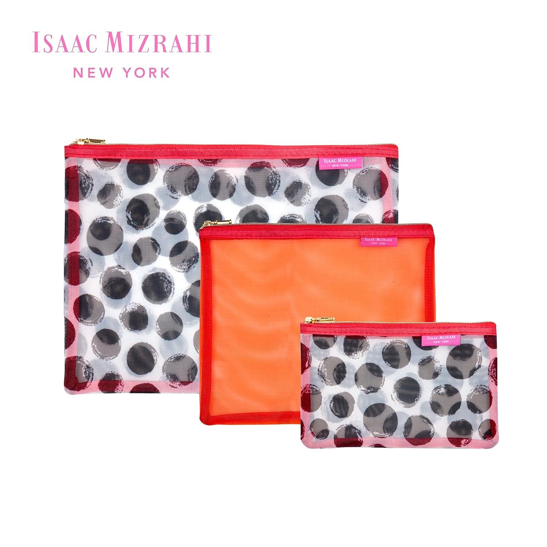 Amazoncom Isaac Mizrahi Travel Cosmetics Mesh Zippered Pouch