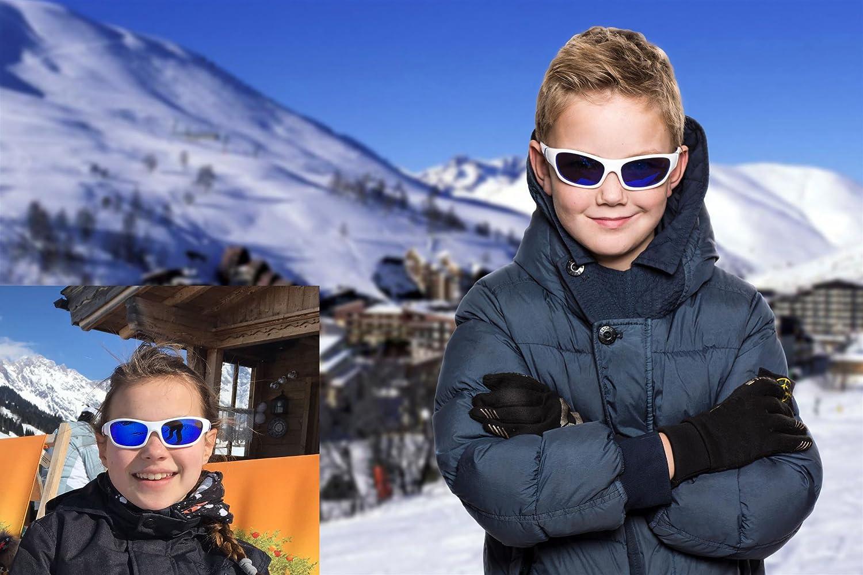 Koolsun Lunettes de soleil SPORT Enfant 3–6 ans   White    Blue + ... 0efceda90512