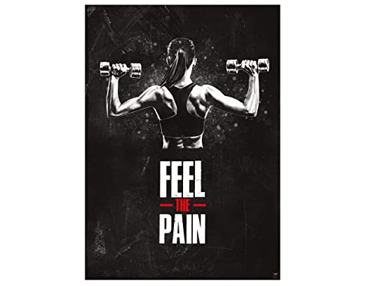 Great Art Póster Motivacional Para Entrenamiento 59 4x42cm Frases Fitness Feel The Pain Nr 7