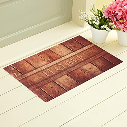 Amazon.com: Rubber Indoor Doormat Rustic Entrance Welcome Mat Heavy ...