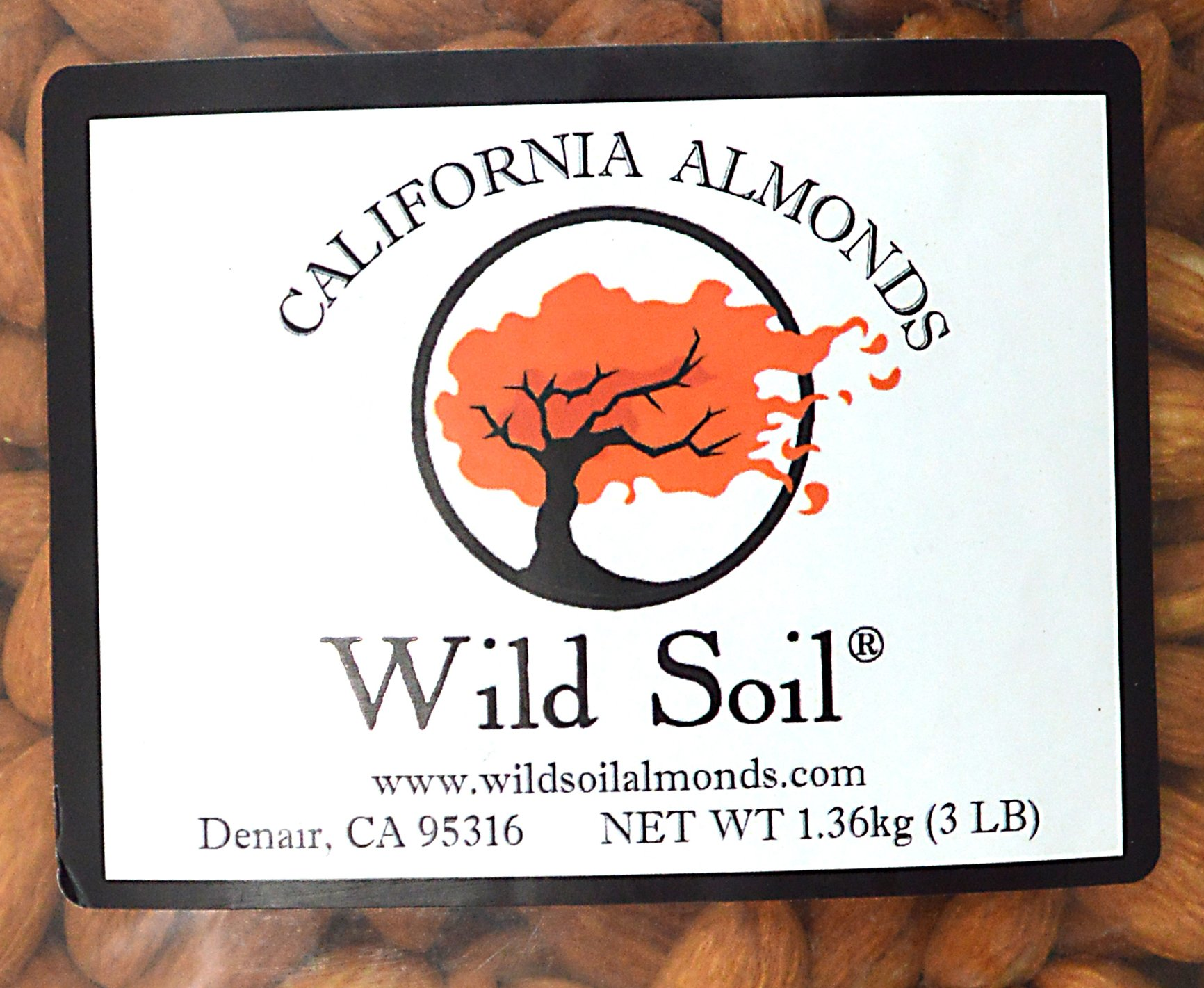 Wild Soil Almonds - Distinct and Superior to Organic, Steam Pasteurized, Probiotic, Raw 3LB Bag by Wild Soil (Image #3)
