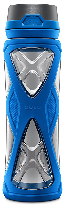 e19d79c045 Amazon.com : Zulu Charge BPA-Free Plastic Water Bottle with 360 Dial ...
