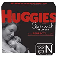 Huggies Special Delivery Hypoallergenic Baby Diapers, Size Newborn, 132 Ct, One...