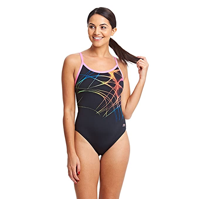 87c9f6775e9ca Amazon.com: Zoggs Womens Flame Sprintback One Piece Swimsuit: Sports &  Outdoors