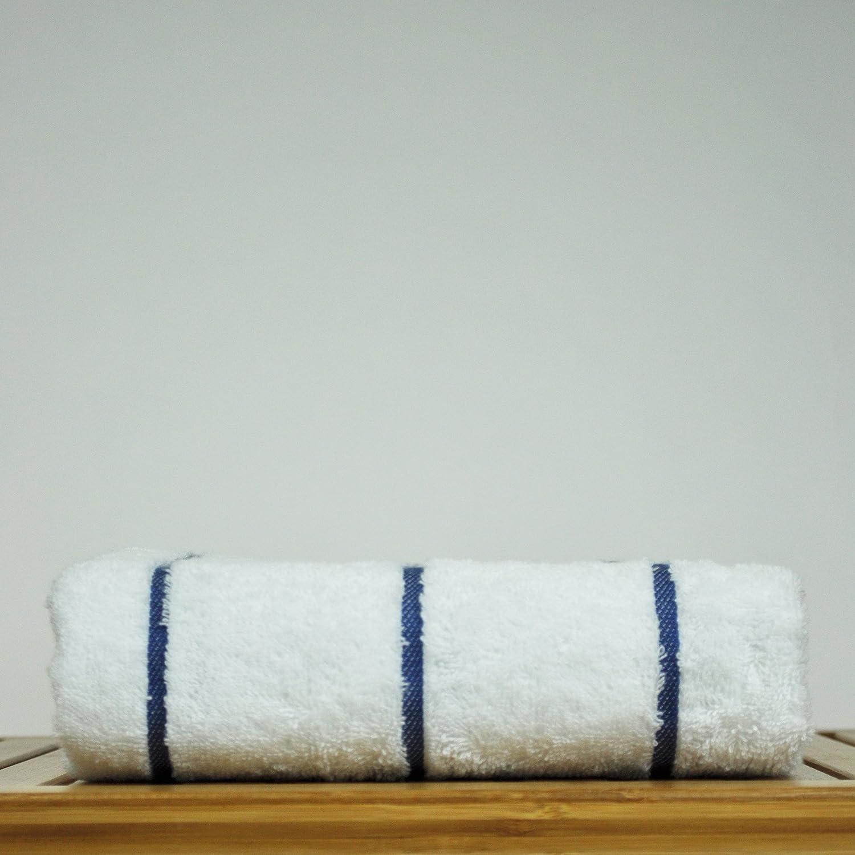 Amazon com luxury hotel towel turkish cotton pool beach towel set navy blue set of 2 home kitchen