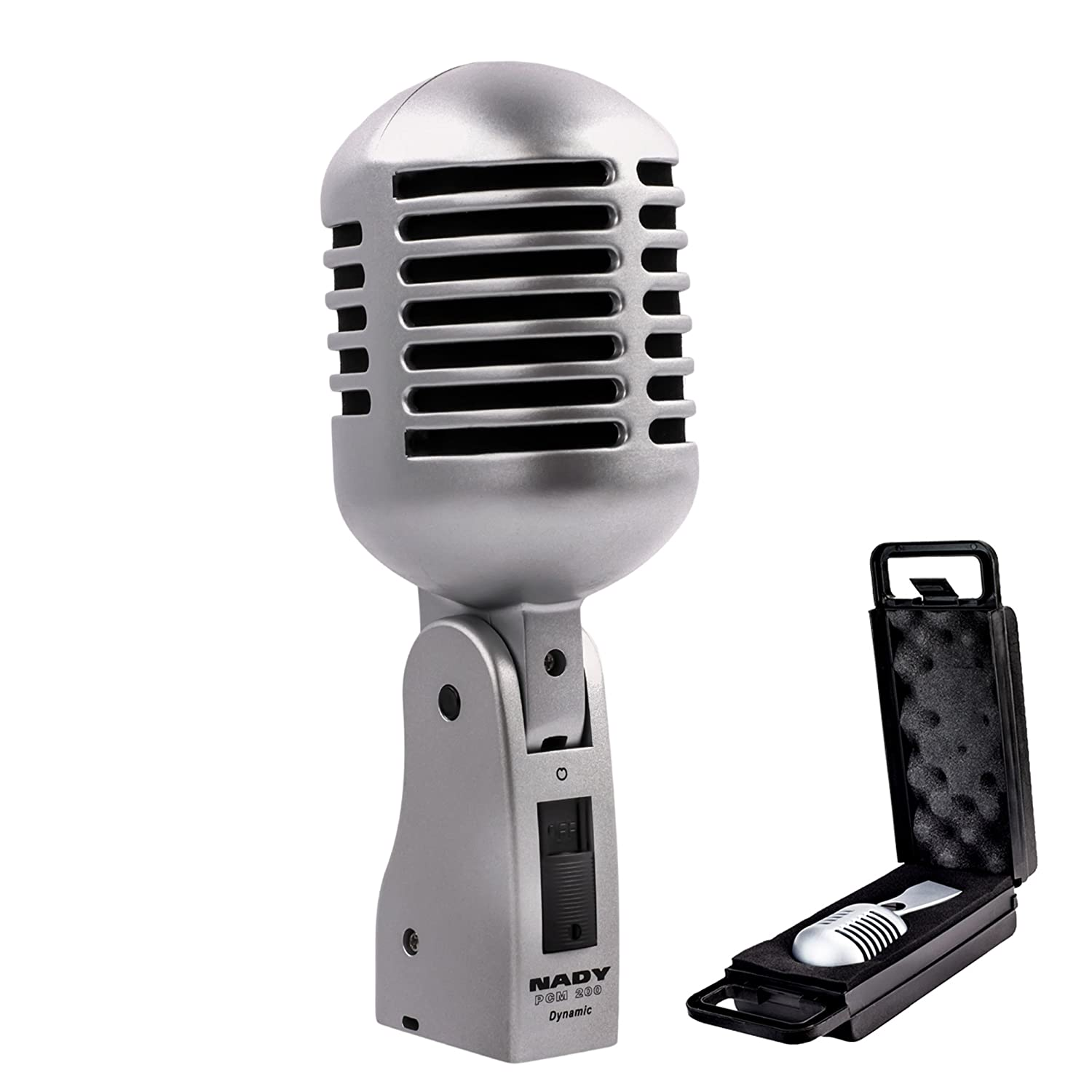 Nady PCM-200 Professional Classic Style Dynamic Microphone - Retro style vocal mic with carrying case, on/off switch, low-cut filter - Vintage look Nady CA PCM200
