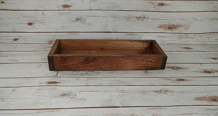 Rustic Wood Box Wooden Farmhouse Table Centerpiece Decor