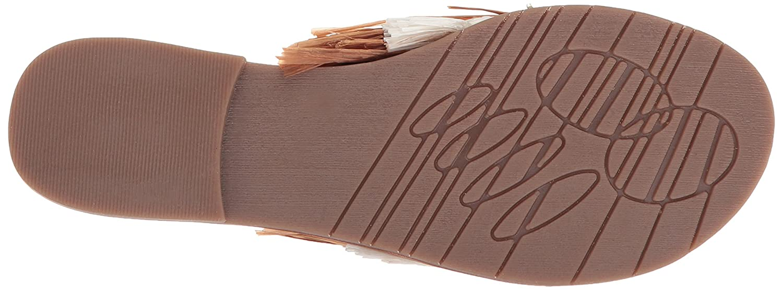Kenneth Cole New York Women's Heron Fringe and Jewels Slide US|Beige/Multi Sandal B077QSCJHH 7 B(M) US|Beige/Multi Slide f88733