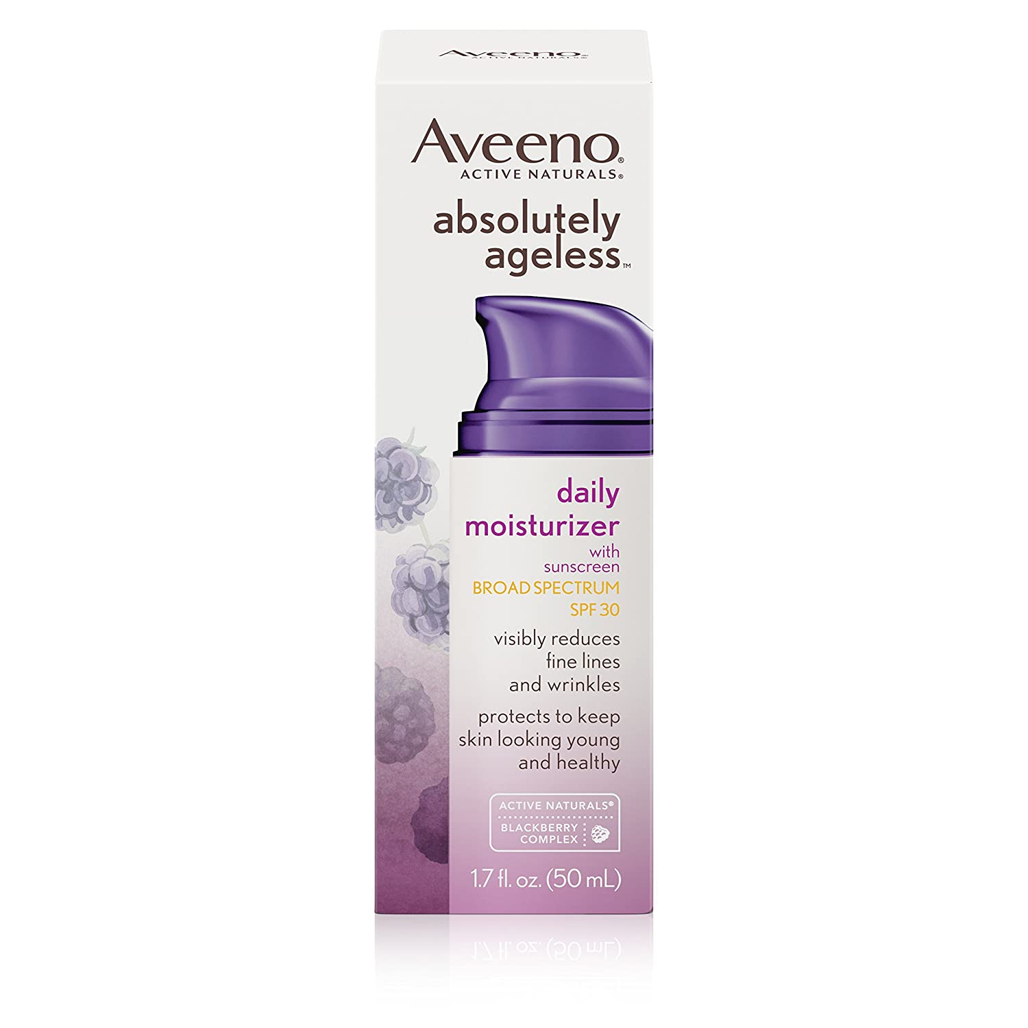 Aveeno Absolutely Ageless Daily Moisturizer 1.7 Ounce (50ml) (3 Pack)