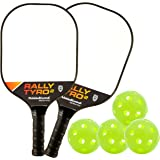 PickleballCentral Rally Tyro 2 Pickleball Paddle Composite Polypropylene Honeycomb Core and Fiberglass Face | Racket or…