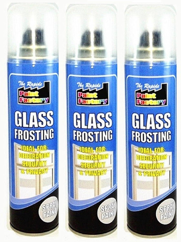 3 x 250ml Glass Frosting White Paint Spray Window Privacy Security Kitchen Bath pajee TM