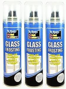 3 x 250 ml cristal glaseado blanco pintura en spray para