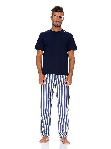 Rochas Paris Pijama Largo Blanco/Azul/Negro S