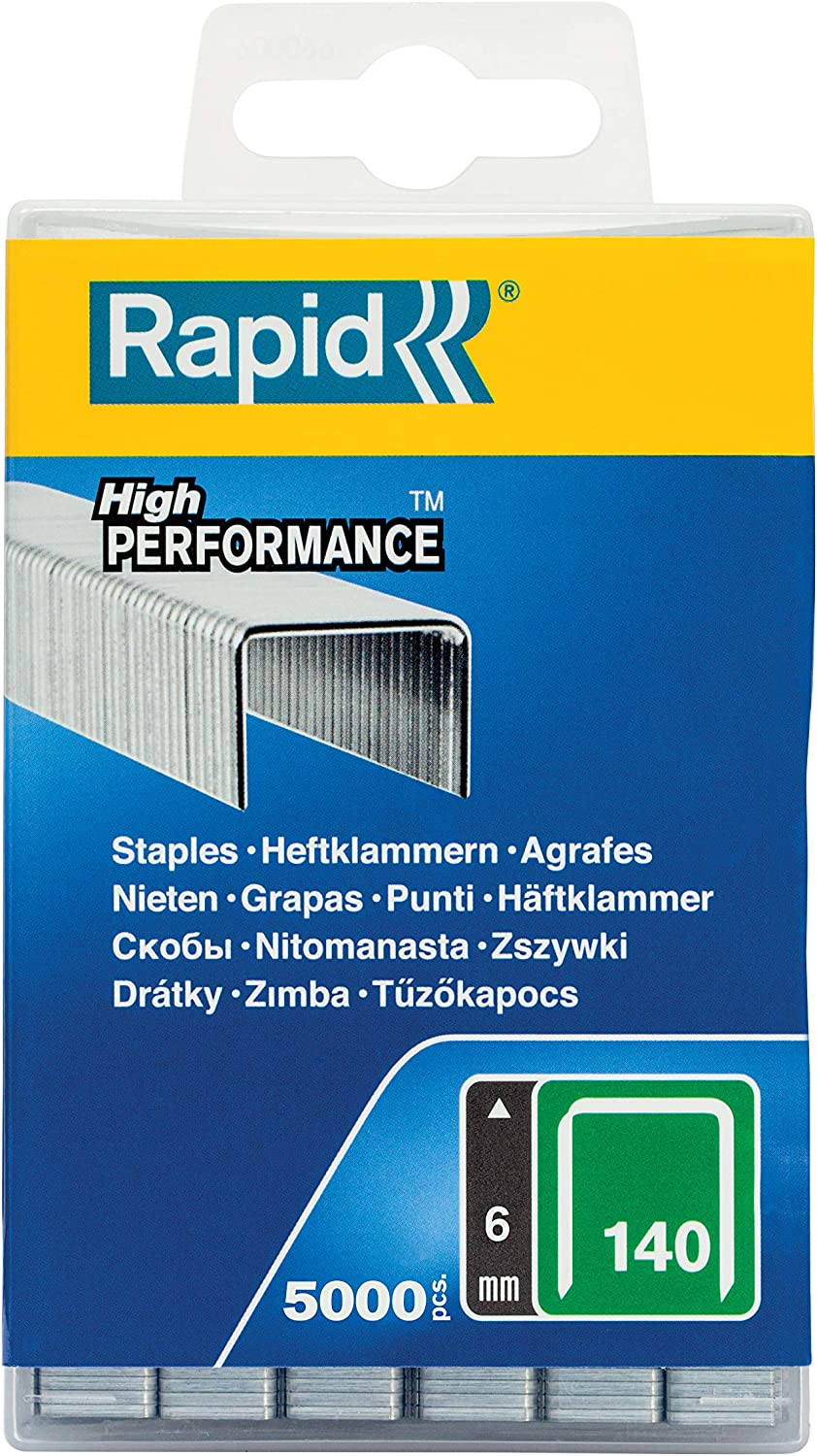 Rapid High Performance No.606 Resin Coated Narrow Staples 30 mm 40303096-3600 Pieces Leg Length