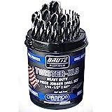 """Champion Cutting Tool Brute Platinum Twister-XL5 29 Piece 1/16""""-1/2"""" x 64ths HSS Jobber Drill Bit Set-135 Deg Split Point, Wa"""