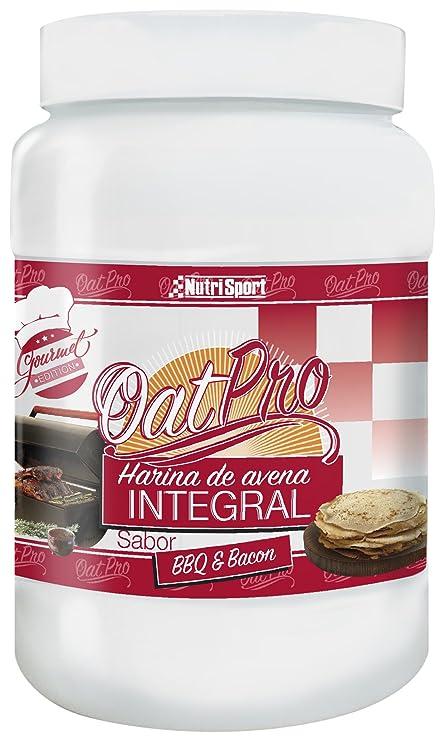 NutriSport Harina de Avena Integral OatPro, Sabor Barbacoa & Bacon - 1500 gr