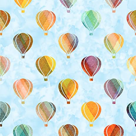 Watercolor Hot Air Balloons Wallpaper Surface Covering Peel Stick 24quot