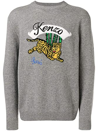 F865pu2573xc95 Sweater Grey Men's Wool At Amazon Kenzo AqOPwP