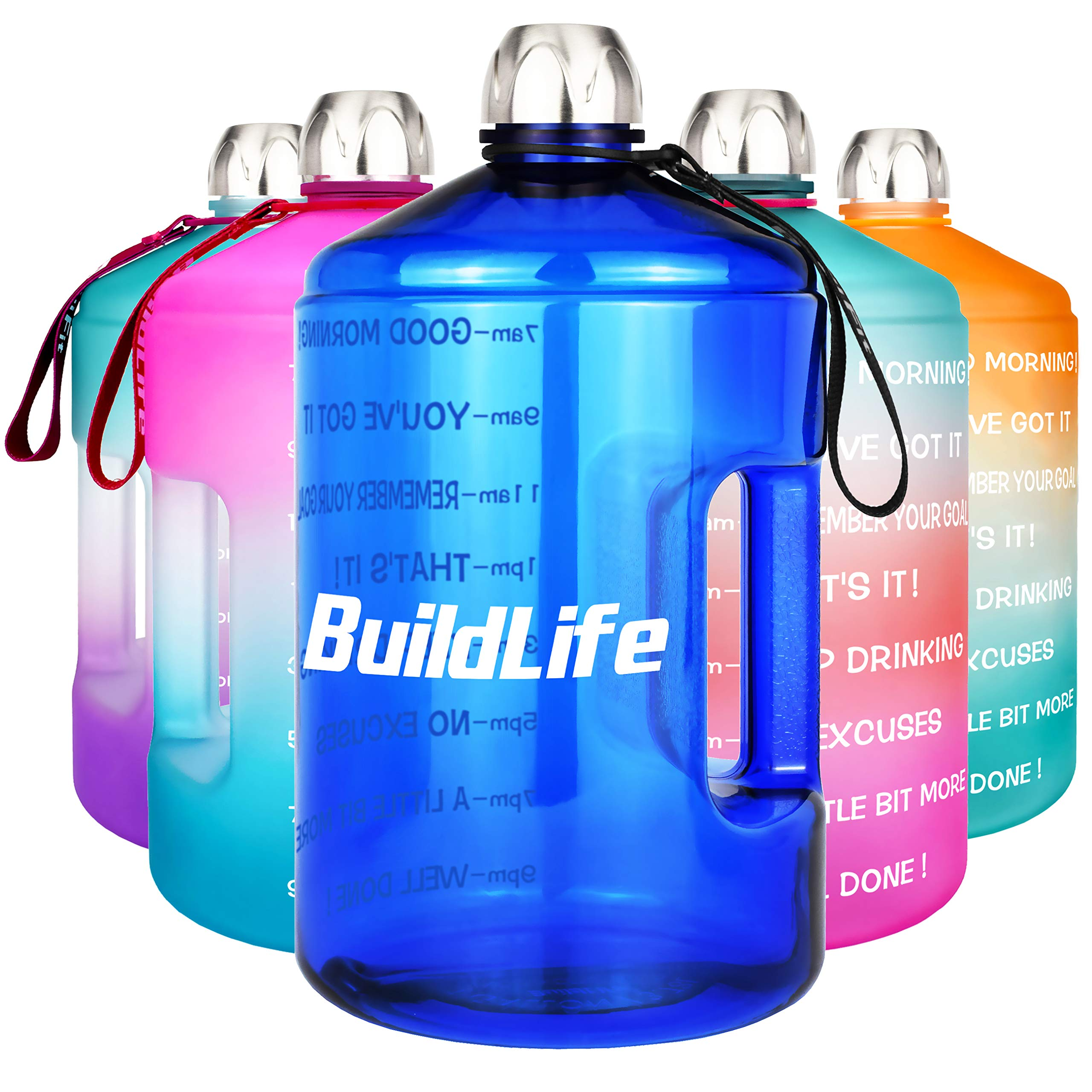 Stainless Steel Water Bottle 2.2l Gym Outdoors Sports Hiking Easy Sip 2L