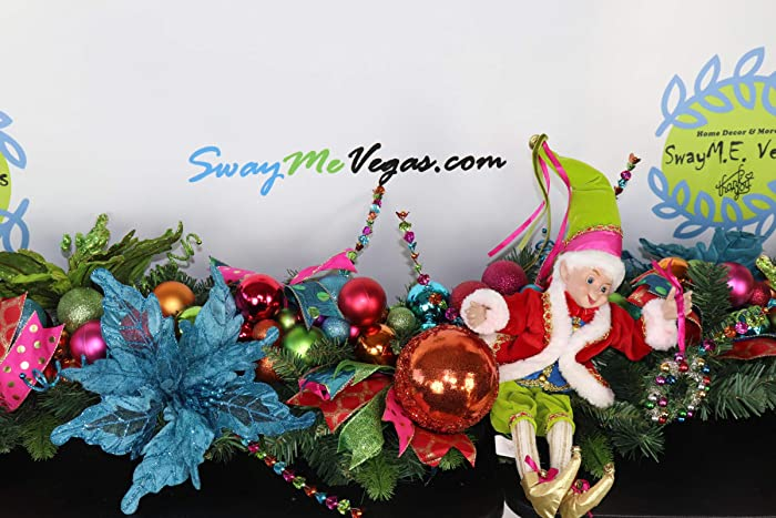 Amazon Com Festive Holiday Garland Festival Christmas Garland Elf