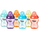 Tommee Tippee Closer to Nature Fiesta Bottles, 260 ml, Pack of 6