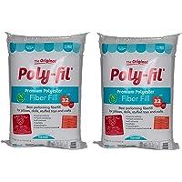 Fairfield Poly Fil Premium Fiber Fill, 32-Ounce 2 Pack