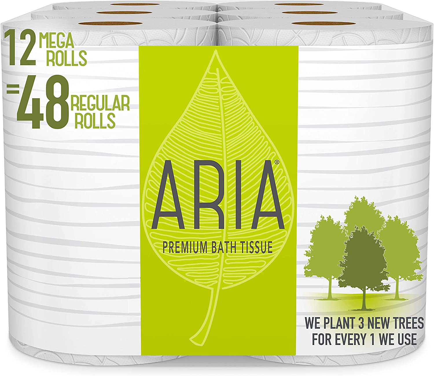 Aria Premum toilet paper is made with 100% renewable power. It's also very soft and strong, ideal for everyday use.
