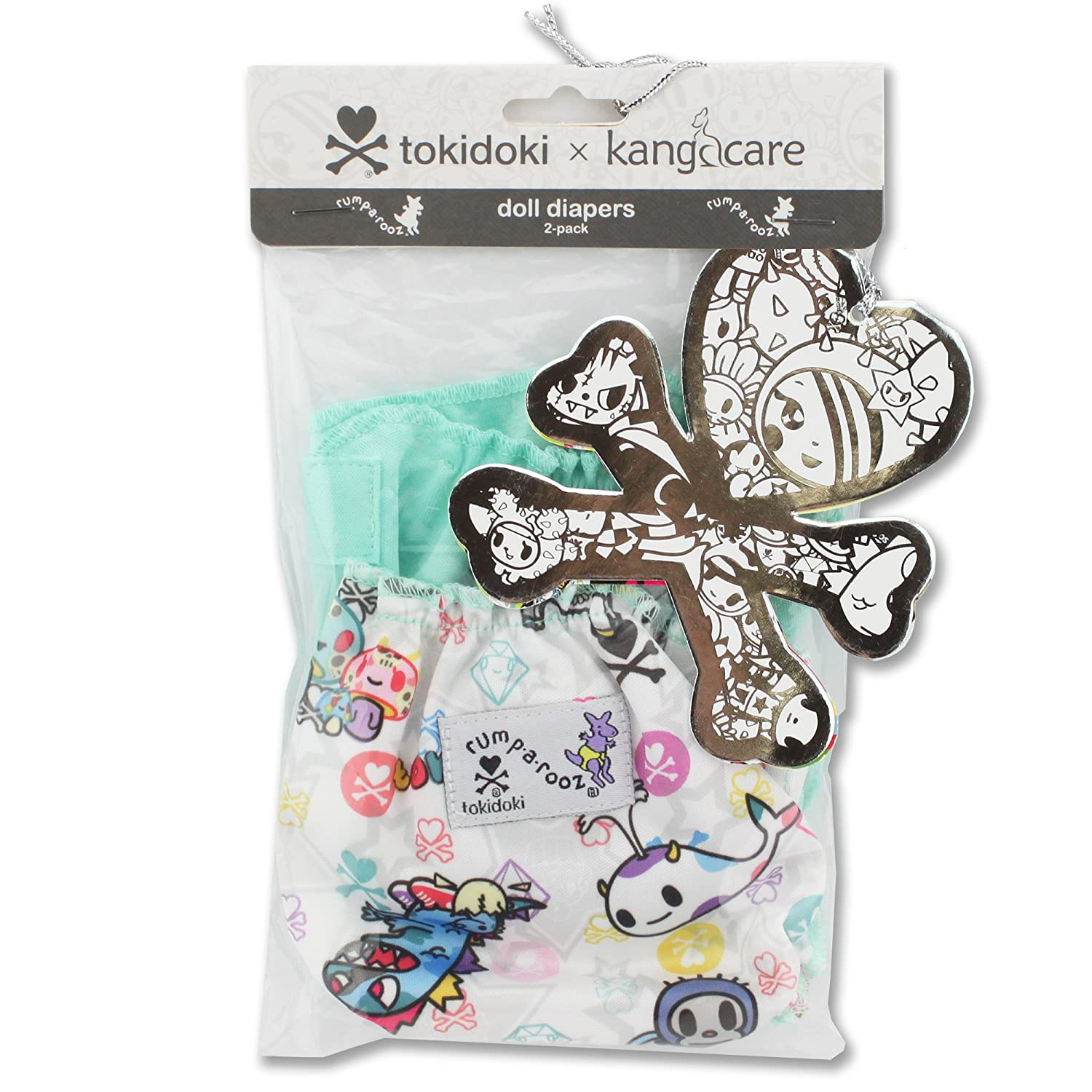 Kanga Care Rumparooz Doll Diaper Set Quinn /& Peacock