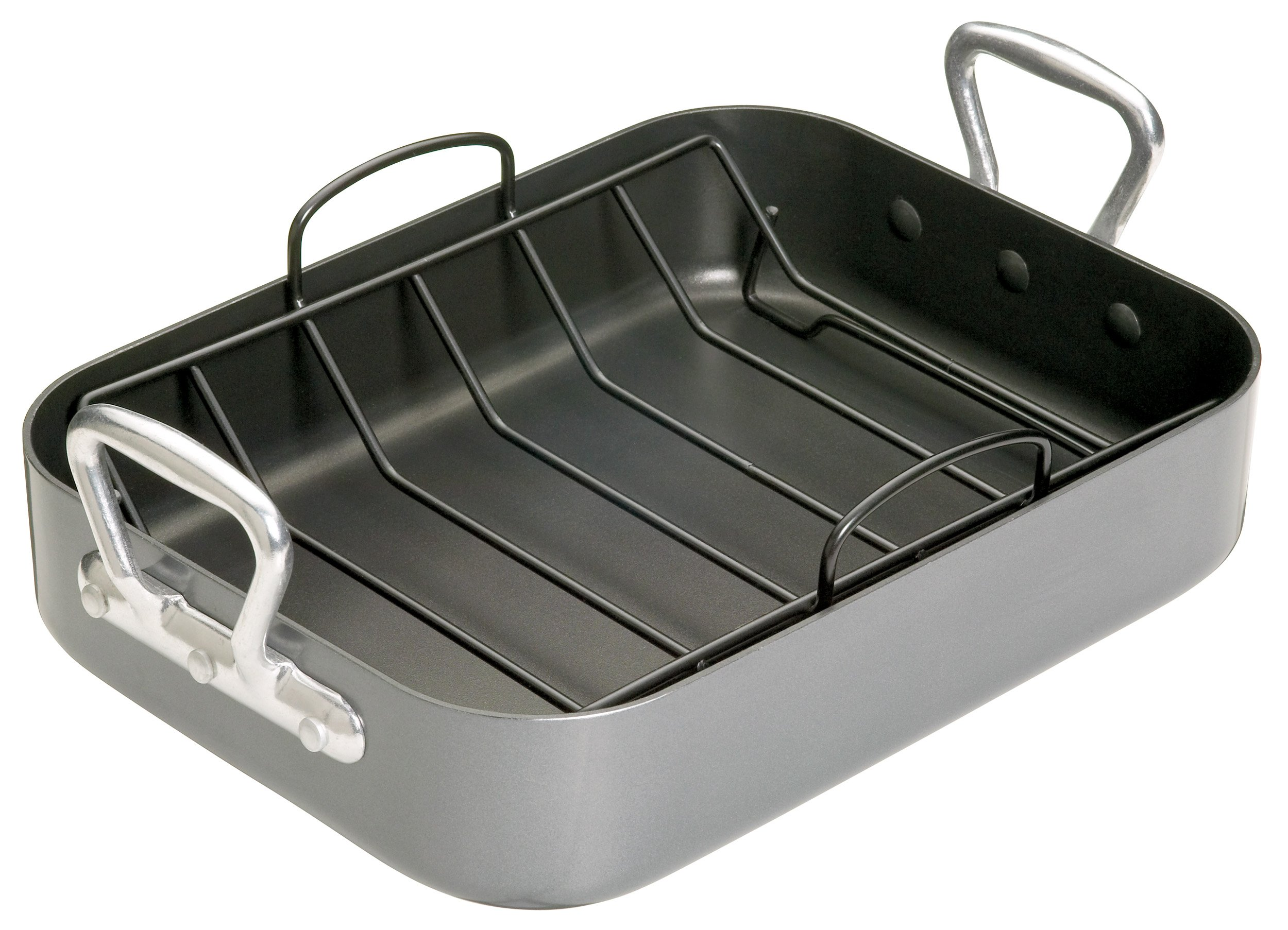 Kitchen Craft Premium Roaster Set With Side Handles And Non-stick Rack
